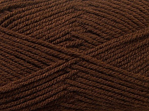 Worsted  Fiber Content 100% Acrylic, Brand Ice Yarns, Brown, Yarn Thickness 4 Medium  Worsted, Afghan, Aran, fnt2-24503