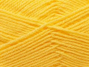 Fiber Content 100% Baby Acrylic, Brand Ice Yarns, Baby Yellow, Yarn Thickness 2 Fine  Sport, Baby, fnt2-24526