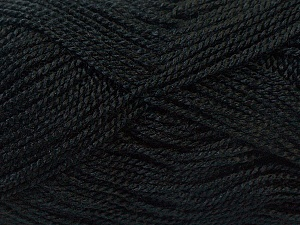 Fiber Content 100% Acrylic, Brand Ice Yarns, Black, Yarn Thickness 1 SuperFine  Sock, Fingering, Baby, fnt2-24585