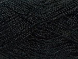 Fiber Content 100% Acrylic, Brand Ice Yarns, Black, Yarn Thickness 1 SuperFine  Sock, Fingering, Baby, fnt2-24585