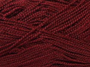 Fiber Content 100% Acrylic, Brand Ice Yarns, Burgundy, Yarn Thickness 1 SuperFine  Sock, Fingering, Baby, fnt2-24613
