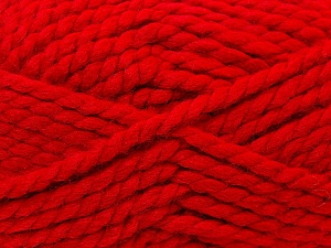 SuperBulky  Fiber Content 55% Acrylic, 45% Wool, Red, Brand Ice Yarns, Yarn Thickness 6 SuperBulky  Bulky, Roving, fnt2-24943
