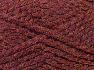 Fiber Content 55% Acrylic, 45% Wool, Maroon, Brand ICE, Yarn Thickness 6 SuperBulky  Bulky, Roving, fnt2-24944