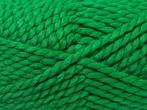 Fiber Content 55% Acrylic, 45% Wool, Brand ICE, Green, Yarn Thickness 6 SuperBulky  Bulky, Roving, fnt2-24945
