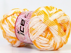 Fiber Content 100% Acrylic, White, Brand Ice Yarns, Dark Yellow, Yarn Thickness 6 SuperBulky Bulky, Roving, fnt2-25167