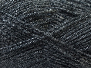 Fiber Content 70% Dralon, 30% Alpaca, Brand ICE, Dark Grey, Yarn Thickness 4 Medium  Worsted, Afghan, Aran, fnt2-25373