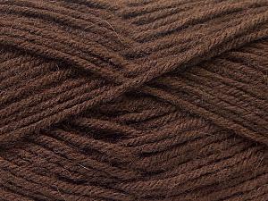 Fiber Content 70% Dralon, 30% Alpaca, Brand Ice Yarns, Dark Brown, Yarn Thickness 4 Medium  Worsted, Afghan, Aran, fnt2-25376