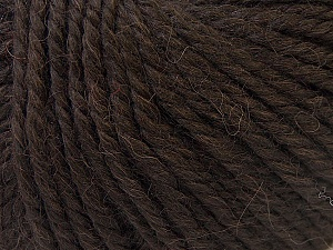 Fiber Content 40% Acrylic, 35% Wool, 25% Alpaca, Brand Ice Yarns, Dark Brown, Yarn Thickness 5 Bulky  Chunky, Craft, Rug, fnt2-25397