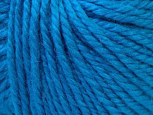 Fiber Content 40% Acrylic, 35% Wool, 25% Alpaca, Turquoise, Brand Ice Yarns, Yarn Thickness 5 Bulky  Chunky, Craft, Rug, fnt2-25398