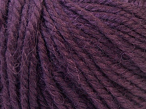 Fiber Content 40% Acrylic, 35% Wool, 25% Alpaca, Purple, Brand Ice Yarns, Yarn Thickness 5 Bulky  Chunky, Craft, Rug, fnt2-25404
