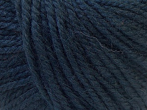 Fiber Content 40% Acrylic, 35% Wool, 25% Alpaca, Brand Ice Yarns, Dark Navy, Yarn Thickness 5 Bulky  Chunky, Craft, Rug, fnt2-25407