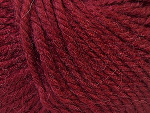 Fiber Content 40% Acrylic, 35% Wool, 25% Alpaca, Brand Ice Yarns, Burgundy, Yarn Thickness 5 Bulky  Chunky, Craft, Rug, fnt2-25413