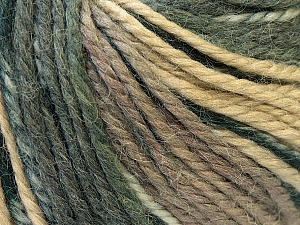 Fiber Content 40% Acrylic, 35% Wool, 25% Alpaca, Brand Ice Yarns, Grey, Cream, Camel, Yarn Thickness 5 Bulky  Chunky, Craft, Rug, fnt2-25415