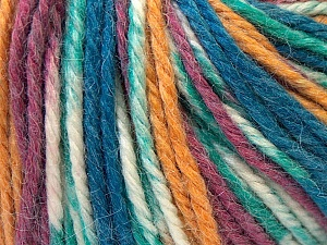 Fiber Content 40% Acrylic, 35% Wool, 25% Alpaca, White, Purple, Navy, Brand Ice Yarns, Gold, Yarn Thickness 5 Bulky  Chunky, Craft, Rug, fnt2-25418