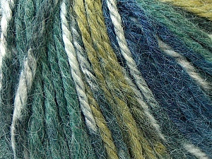 Fiber Content 40% Acrylic, 35% Wool, 25% Alpaca, Navy, Khaki, Brand Ice Yarns, Green, Blue, Yarn Thickness 5 Bulky  Chunky, Craft, Rug, fnt2-25419