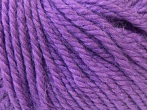 Fiber Content 40% Acrylic, 35% Wool, 25% Alpaca, Purple, Brand Ice Yarns, Yarn Thickness 5 Bulky  Chunky, Craft, Rug, fnt2-25450