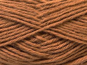 Fiber Content 70% Dralon, 30% Alpaca, Light Brown, Brand Ice Yarns, Yarn Thickness 4 Medium  Worsted, Afghan, Aran, fnt2-25664