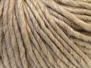 Fiber Content 100% Wool, Brand Ice Yarns, Camel Brown, Yarn Thickness 5 Bulky  Chunky, Craft, Rug, fnt2-25994