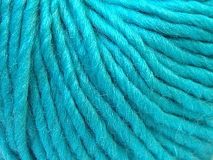 Fiber Content 100% Wool, Turquoise, Brand Ice Yarns, Yarn Thickness 5 Bulky  Chunky, Craft, Rug, fnt2-26010