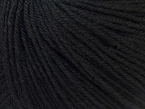 Fiber Content 40% Acrylic, 40% Merino Wool, 20% Polyamide, Brand Ice Yarns, Black, Yarn Thickness 2 Fine  Sport, Baby, fnt2-26112