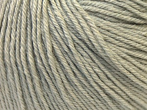 Fiber Content 40% Merino Wool, 40% Acrylic, 20% Polyamide, Light Grey, Brand Ice Yarns, Yarn Thickness 2 Fine  Sport, Baby, fnt2-26115