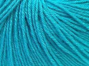 Fiber Content 40% Merino Wool, 40% Acrylic, 20% Polyamide, Turquoise, Brand Ice Yarns, Yarn Thickness 2 Fine  Sport, Baby, fnt2-26121