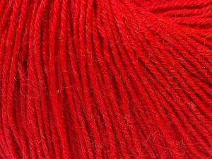 Fiber Content 40% Merino Wool, 40% Acrylic, 20% Polyamide, Red, Brand Ice Yarns, Yarn Thickness 2 Fine  Sport, Baby, fnt2-26129