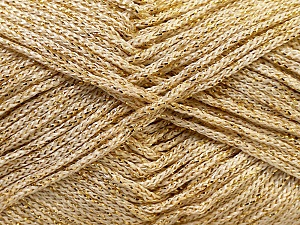 Width is 3 mm Fiber Content 100% Polyester, Brand Ice Yarns, Gold, fnt2-27085