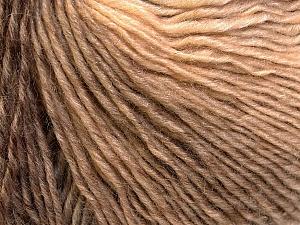 Fiber Content 50% Acrylic, 50% Wool, Brand Ice Yarns, Cream, Camel, Yarn Thickness 3 Light  DK, Light, Worsted, fnt2-27149