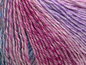 Fiber Content 50% Acrylic, 50% Wool, Pink, Lilac, Brand ICE, Blue, Yarn Thickness 3 Light  DK, Light, Worsted, fnt2-27155