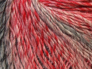 Fiber Content 50% Acrylic, 50% Wool, Red, Pink, Brand Ice Yarns, Grey, Yarn Thickness 3 Light  DK, Light, Worsted, fnt2-27156