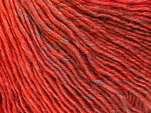 Fiber Content 50% Acrylic, 50% Wool, Red, Brand Ice Yarns, Copper, Brown, Yarn Thickness 3 Light  DK, Light, Worsted, fnt2-27157