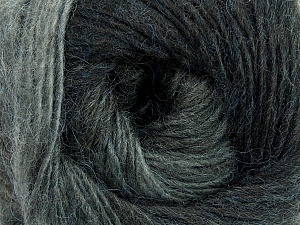 Fiber Content 40% Wool, 30% Acrylic, 30% Mohair, Brand Ice Yarns, Grey Shades, Yarn Thickness 3 Light  DK, Light, Worsted, fnt2-27200