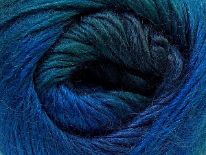 Fiber Content 40% Wool, 30% Acrylic, 30% Mohair, Brand Ice Yarns, Blue Shades, Yarn Thickness 3 Light  DK, Light, Worsted, fnt2-27202