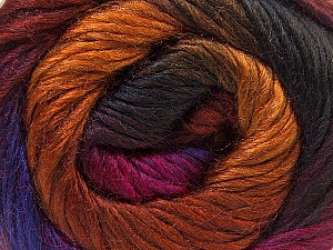 Fiber Content 40% Wool, 30% Acrylic, 30% Mohair, Purple, Brand Ice Yarns, Gold, Fuchsia, Copper, Brown, Yarn Thickness 3 Light  DK, Light, Worsted, fnt2-27204