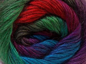 Fiber Content 40% Wool, 30% Acrylic, 30% Mohair, Red, Purple, Brand Ice Yarns, Green Shades, Blue, Yarn Thickness 3 Light  DK, Light, Worsted, fnt2-27210