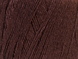 Fiber Content 50% Viscose, 50% Linen, Brand Ice Yarns, Dark Brown, Yarn Thickness 2 Fine  Sport, Baby, fnt2-27254
