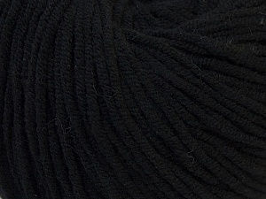 Fiber Content 50% Cotton, 50% Acrylic, Brand Ice Yarns, Black, Yarn Thickness 3 Light  DK, Light, Worsted, fnt2-27349
