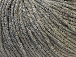 Fiber Content 50% Acrylic, 50% Cotton, Brand Ice Yarns, Grey, Yarn Thickness 3 Light  DK, Light, Worsted, fnt2-27351