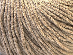 Fiber Content 50% Acrylic, 50% Cotton, Brand Ice Yarns, Beige, Yarn Thickness 3 Light  DK, Light, Worsted, fnt2-27353