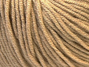 Fiber Content 50% Acrylic, 50% Cotton, Light Brown, Brand Ice Yarns, Yarn Thickness 3 Light  DK, Light, Worsted, fnt2-27354