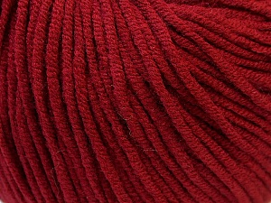 Fiber Content 50% Acrylic, 50% Cotton, Brand Ice Yarns, Burgundy, Yarn Thickness 3 Light  DK, Light, Worsted, fnt2-27359