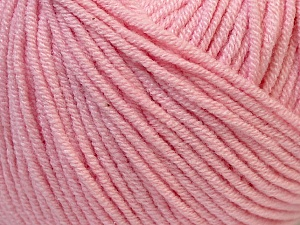 Fiber Content 50% Cotton, 50% Acrylic, Light Pink, Brand Ice Yarns, Yarn Thickness 3 Light  DK, Light, Worsted, fnt2-27360