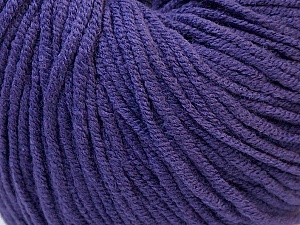 Fiber Content 50% Acrylic, 50% Cotton, Purple, Brand Ice Yarns, Yarn Thickness 3 Light  DK, Light, Worsted, fnt2-27364