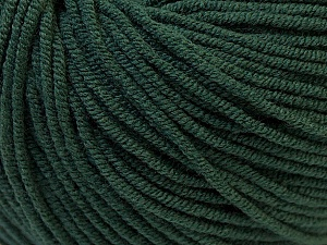 Fiber Content 50% Acrylic, 50% Cotton, Brand Ice Yarns, Dark Green, Yarn Thickness 3 Light  DK, Light, Worsted, fnt2-27366