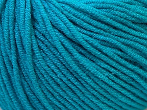 Fiber Content 50% Cotton, 50% Acrylic, Turquoise, Brand Ice Yarns, Yarn Thickness 3 Light  DK, Light, Worsted, fnt2-27369