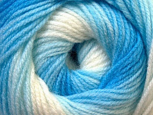 Fiber Content 100% Baby Acrylic, White, Brand Ice Yarns, Blue Shades, Yarn Thickness 2 Fine Sport, Baby, fnt2-29603