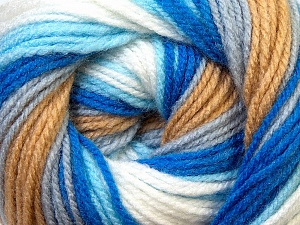 Fiber Content 100% Baby Acrylic, White, Brand ICE, Grey, Camel, Blue, Yarn Thickness 2 Fine  Sport, Baby, fnt2-29606
