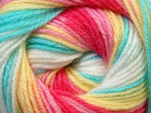 Fiber Content 100% Baby Acrylic, Yellow, White, Pink, Mint Green, Brand Ice Yarns, Fuchsia, Yarn Thickness 2 Fine  Sport, Baby, fnt2-29612