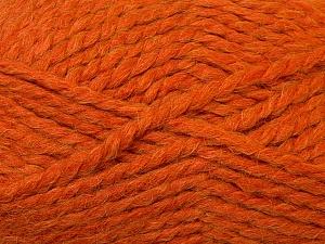 Fiber Content 60% Acrylic, 30% Alpaca, 10% Wool, Orange, Brand ICE, Yarn Thickness 6 SuperBulky  Bulky, Roving, fnt2-30831